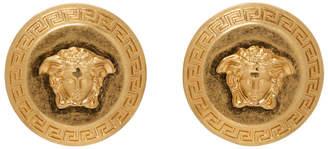 Versace Gold Medusa Tribute Coin Earrings