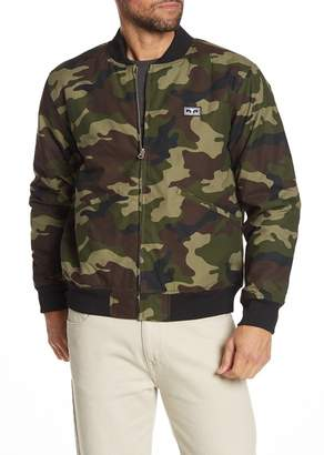 Obey Jumbled Lo-Fi Camouflage Bomber Jacket