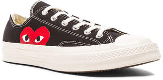 Comme des Garcons Converse Large Emblem Low Top Canvas Sneakers