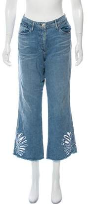 3x1 Embroidered Wide-Leg Jeans