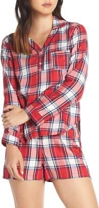 ED Ellen Degeneres Plaid Flannel Shorty Pajamas