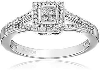 10K Gold Princess Cut Diamond Promise Ring (1/4cttw)