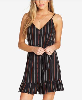 Billabong Juniors' Striped Ruffle-Hem Dress