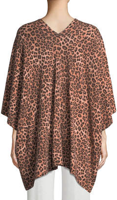 Neiman Marcus Cashmere Leopard-Print Shawl