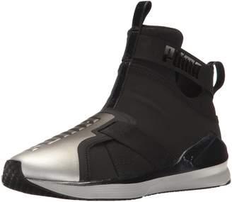 Puma Women's Fierce Strap Metallic WN's Cross-Trainer Shoe, Black Silver