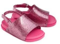 Mini Melissa Kid's Glitter Beach Slides