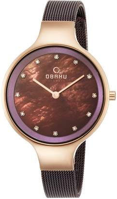 Obaku V173LXVNMN Women's Dial Classic Analog Watch with 2 Hands