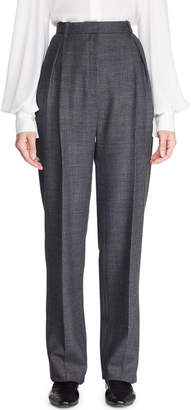 The Row Brina High-Waist Tapered-Leg Wool-Blend Pants