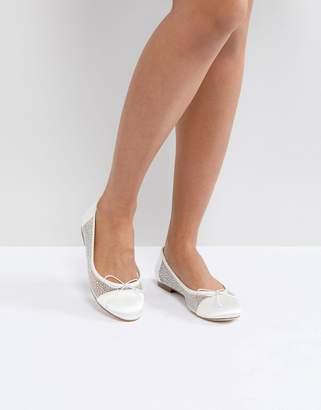Asos DESIGN LIGHT SHOW Bridal Crystal Ballet Flats