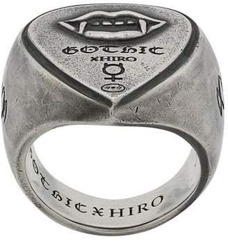 Yohji Yamamoto vampire engraved ring