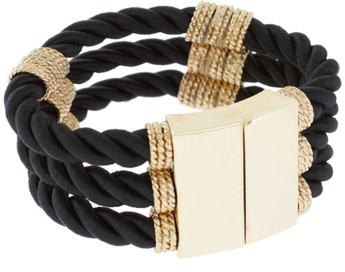 French Connection Rope And Chain Bracelet