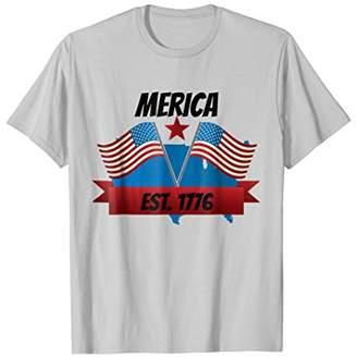 Merica Est.1776 American Flag Patriotic T shirt
