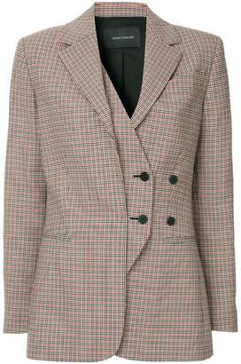 Cédric Charlier off-centre button blazer