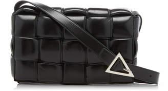 Bottega Veneta Intrecciato Patent-Leather Shoulder Bag