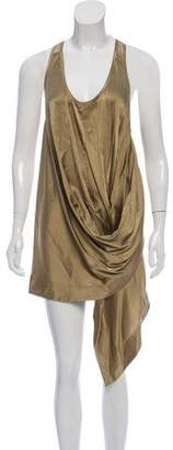Kaufman Franco KAUFMANFRANCO Draped Silk Satin Dress