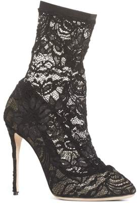 Dolce & Gabbana Stretch Lace Sock Bootie