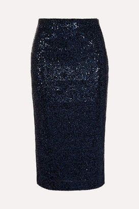Rebecca Vallance Andree Sequined Lurex Skirt - Navy