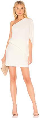 Halston Asymmetrical Sleeve Dress