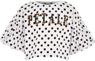 River Island Girls white 'Patale' polka dot T-shirt