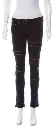 Rag & Bone Skinny-Leg Mid-Rise Jeans