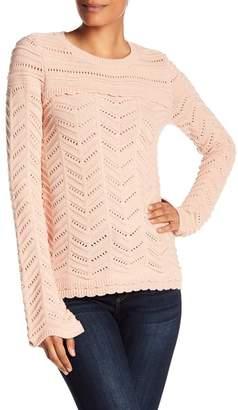 Catherine Malandrino Bell Cuff Pointelle Sweater
