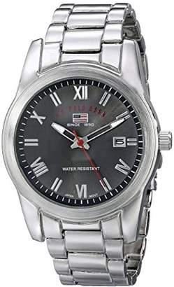 U.S. Polo Assn. Sport Men's US8002 Silver-tone Sporty Bracelet Watch