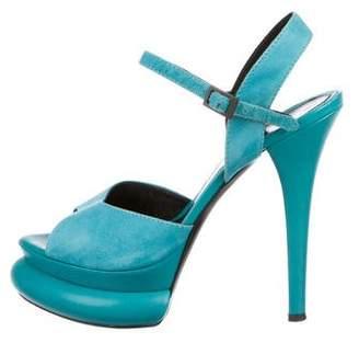 Fendi Suede Platform Sandals