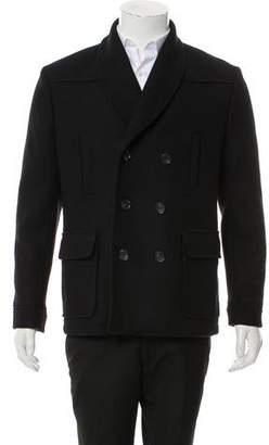 Surface to Air Wool Shawl Collar Pea Coat w/ Tags