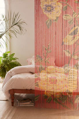 Floral Bamboo Beaded Curtain