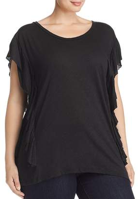 Elan International Plus Ruffle-Trimmed Tee