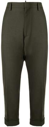 DSQUARED2 cropped tapered trousers