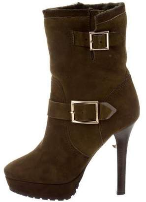 Jimmy Choo Fur-Lined Suede Ankle Boots