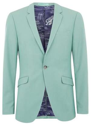 Topman Mens Mint Green Ultra Skinny Fit Suit Jacket