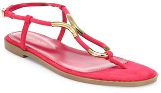 Sergio Rossi Women's Twist Suede Flat Sandals
