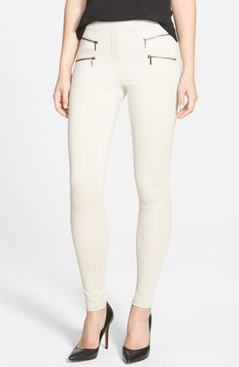 Women's Nic+Zoe Zip Detail Skinny Ponte Pants $144 thestylecure.com