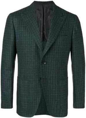 Kiton check suit jacket