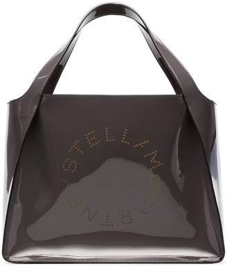 Stella McCartney charcoal small logo print tote bag