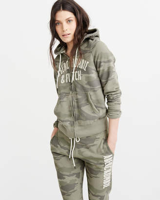 Abercrombie & Fitch Logo Full-Zip Hoodie