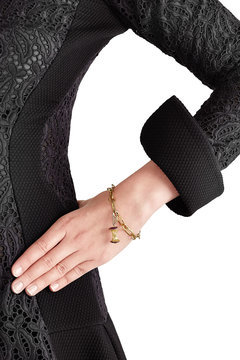 Aurelie BidermannAurélie Bidermann Fine Jewelry 18kt Gold Big Apple Pendant with Rubies/Diamonds