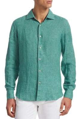Saks Fifth Avenue COLLECTION Linen Button-Down Shirt