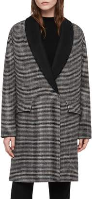 AllSaints Paige Check Coat