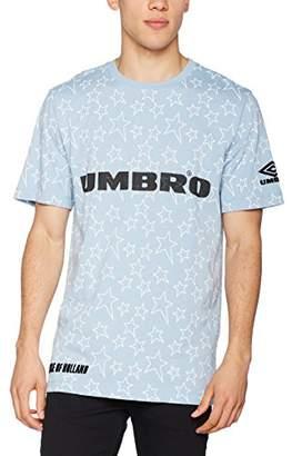 House of Holland Men's Umbro Plastisol Outline Star T-Shirt Casual (Baby Blue), Medium