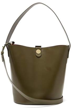 Sophie Hulme Swing Leather Bucket Bag - Womens - Khaki