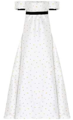 Philosophy di Lorenzo Serafini Floral jacquard gown