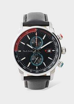 Paul Smith Men's Black And Red 'Chrono' Chronograph Watch