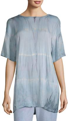 Electric & Rose Temple Satin Oversized Tie-Dye Tee