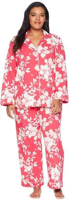 BedHead Plus Size Long Sleeve Classic Two-Piece Pajama Set Women's Pajama Sets