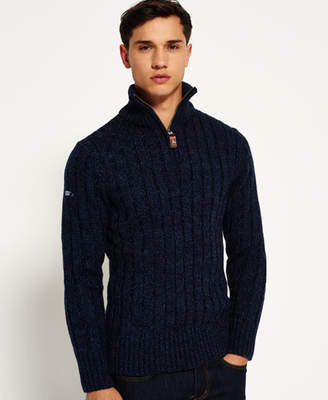 Superdry Jacob Fleck Rib Henley Sweater