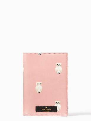 Kate Spade Daycation painterly owl passport holder