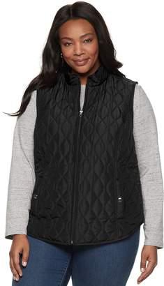 Croft & Barrow Plus Size Classic Quilted Vest